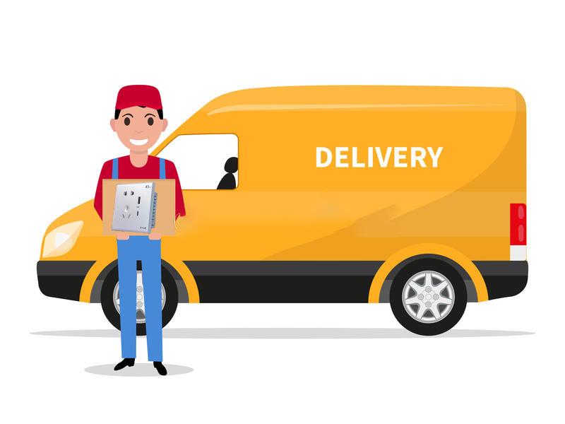 导航动-片有纸盒箱子的送-人汽车-92053286.jpg